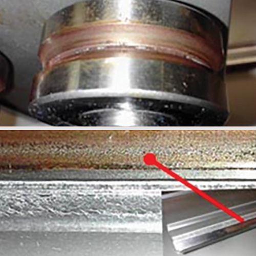 Corrosion and contamination due to lube failure