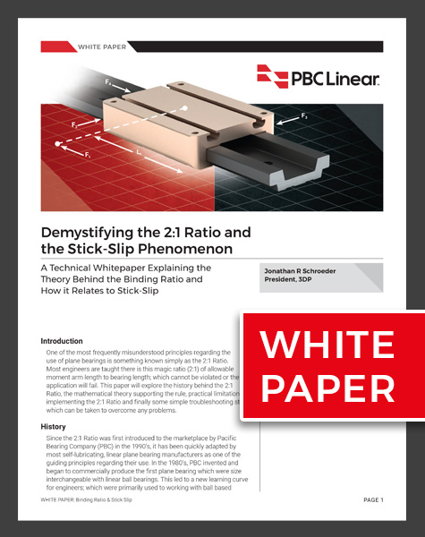 White paper that demystifies the 2-1 ratio and stick-slip phenomenon
