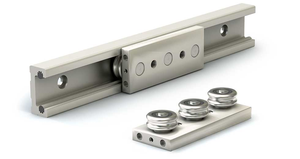Rail and Slider for Redi-Rail Linear Guide (Inch)