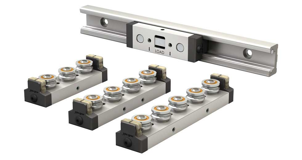 Rail and Slider for Redi-Rail Linear Guide (Metric)