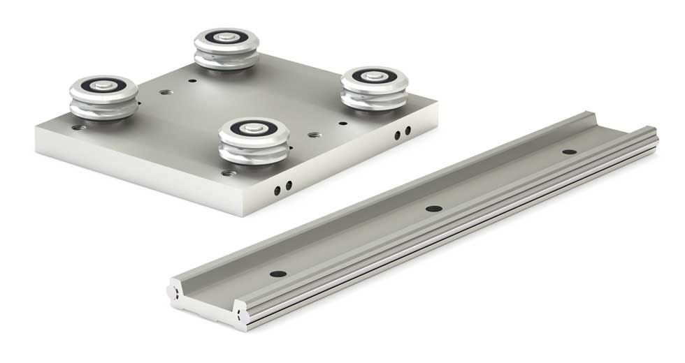 Rail and Slider for Low Profile Redi-Rail Linear Guide