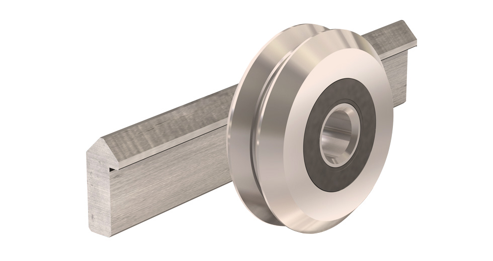 V-Guide Roller Wheel and Rail