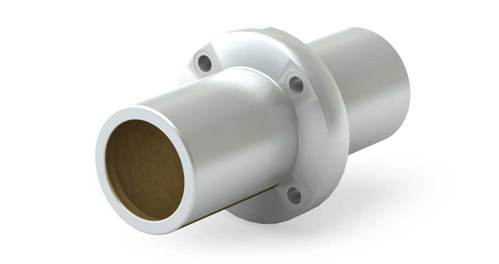 CFPMRC (Metric) Round Compensated Flange Mount Center Linear Plain Bearing