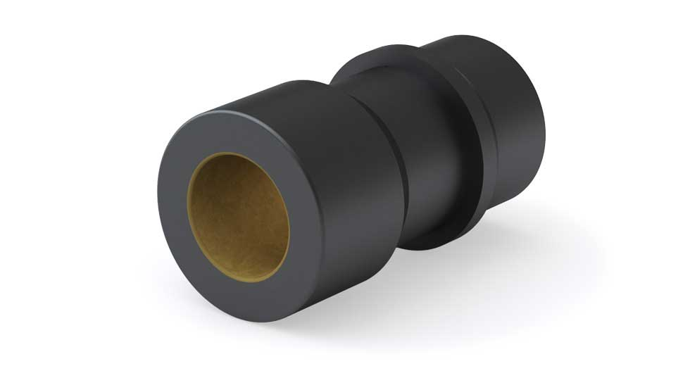 Product view of PACZC (Inch) Die Set Bushings, Flange Mount Compensated Plain Bearing
