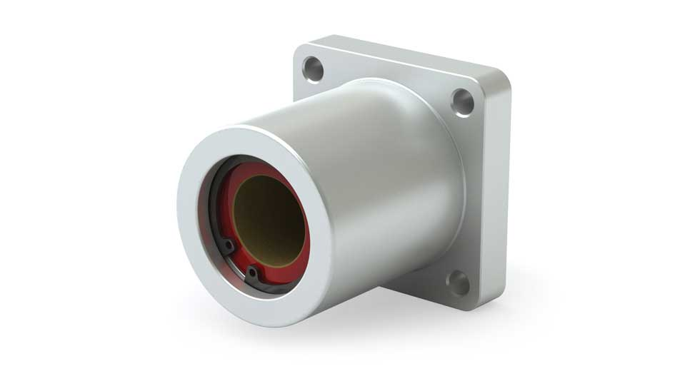 SFPC Square Flange Mount Linear Compensated Plain Bearing
