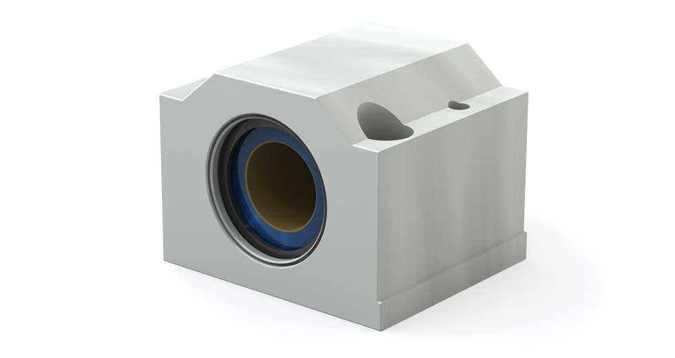Main view of PM Metric Closed Linear Plain Bearing Pillow Blocks