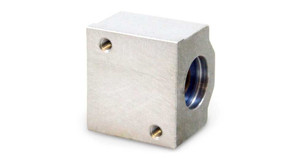 Bottom view of PM Metric Closed Linear Plain Bearing Pillow Blocks