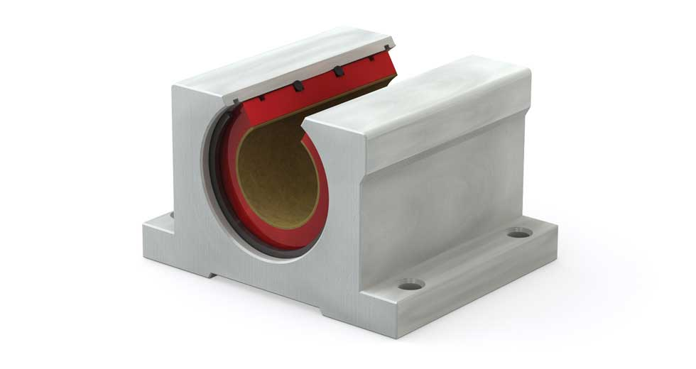 Main view of PN (Inch) Open Plain Linear Bearing Pillow Block