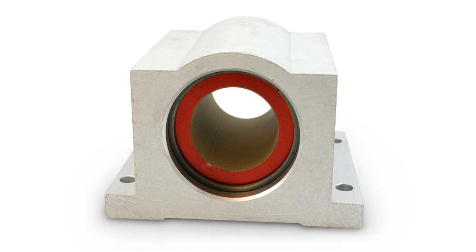 P (Inch) Closed PTFE coated self-lubricating pillow blocks