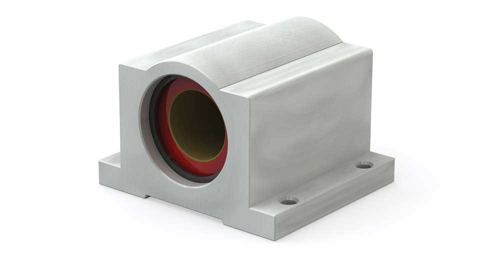 Main view of P (Inch) Closed PTFE coated self-lubricating pillow blocks