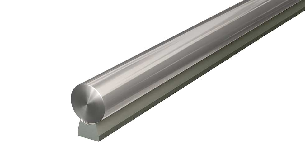 LSRAM (Metric) Linear Steel Low Support Rail and Shaft Assembly