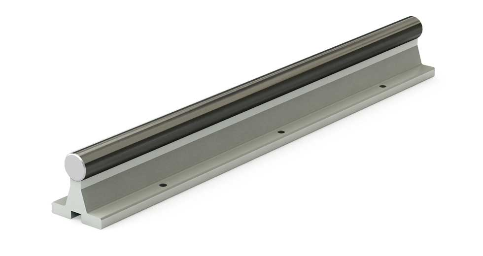 SRACC (Inch) Linear Ceramic Coated Shafting Aluminum Support Rail Assembly