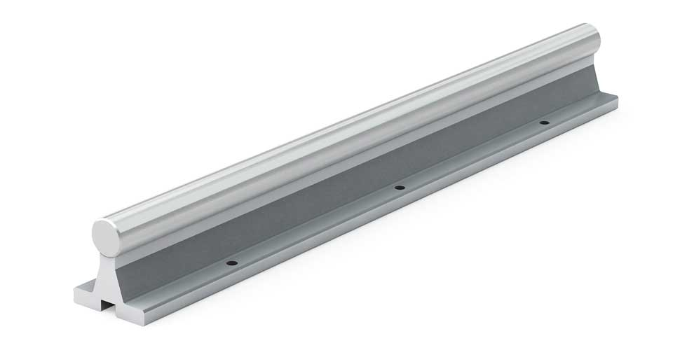 SRASS (Inch) Linear Stainless Steel Shafting Aluminum Support Rail Assembly