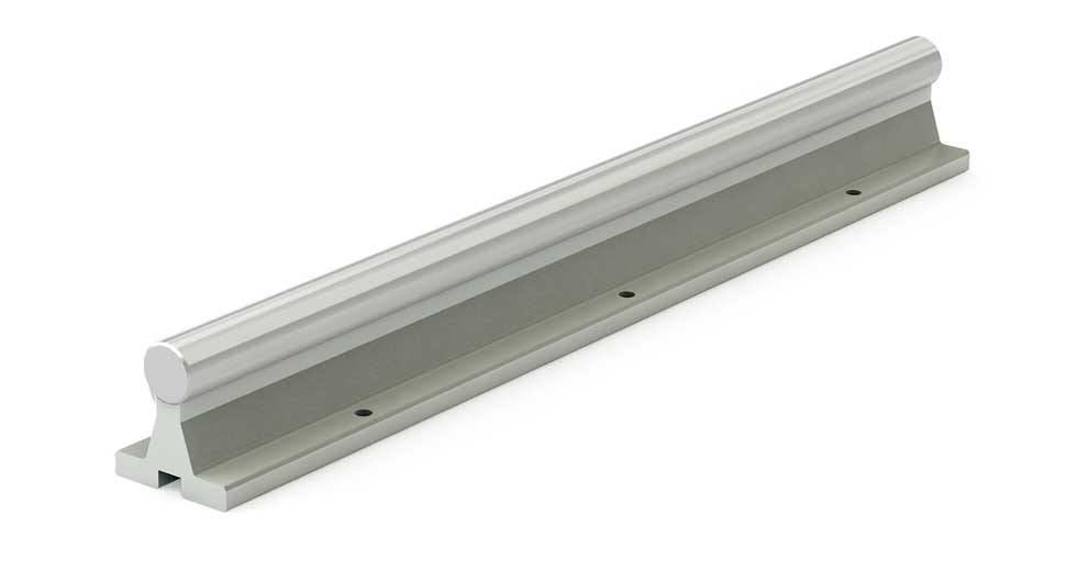 SRA (Inch) Linear Shafting Aluminum Support Rail Assembly