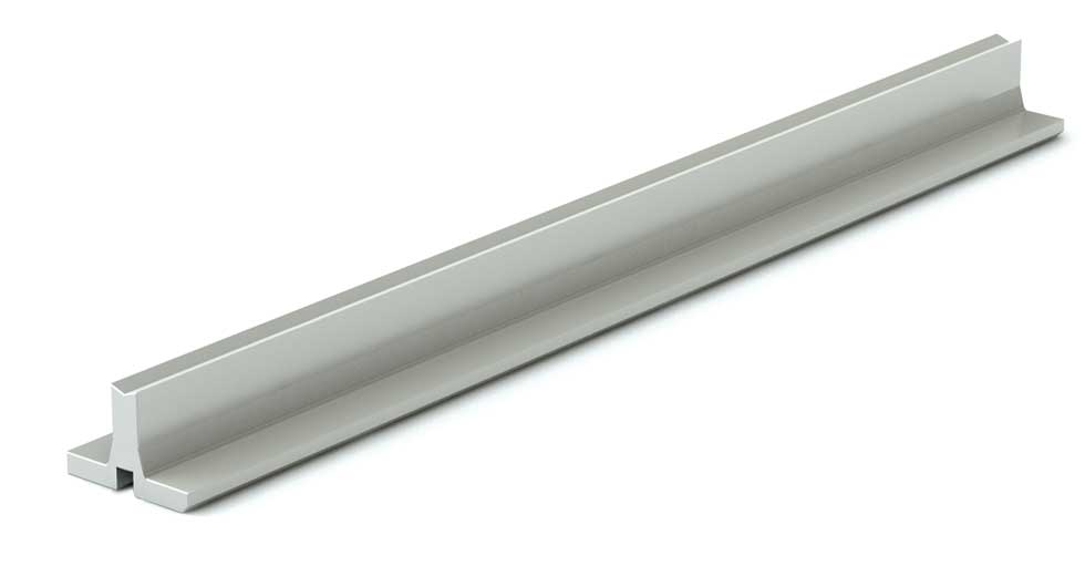 SRM (Metric) Linear Aluminum Support Rail