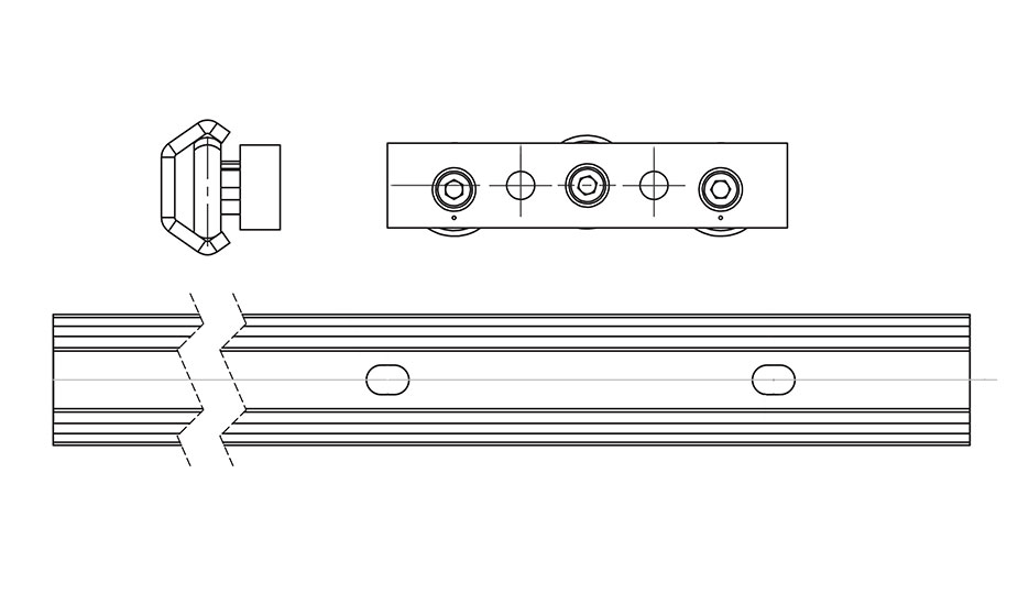 Commercial Rail Linear Guides - Diagrams
