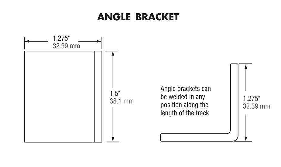 Hardened Crown Rollers - Angle Bracket Diagram