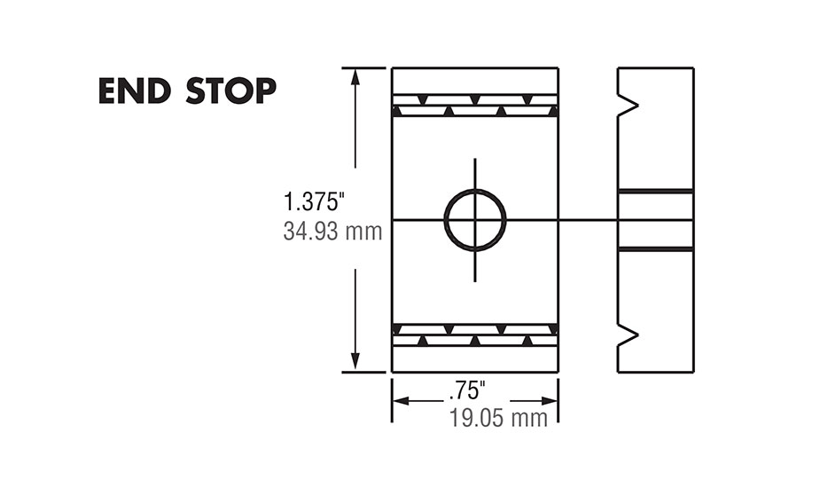 Hardened Crown Rollers - End Stop Diagram