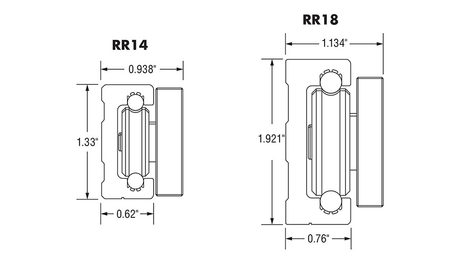 Redi-Rail Linear Guide Rail Inch (RR)