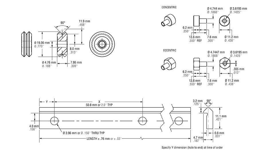 V-Guide Diagram - VW1 Wheel