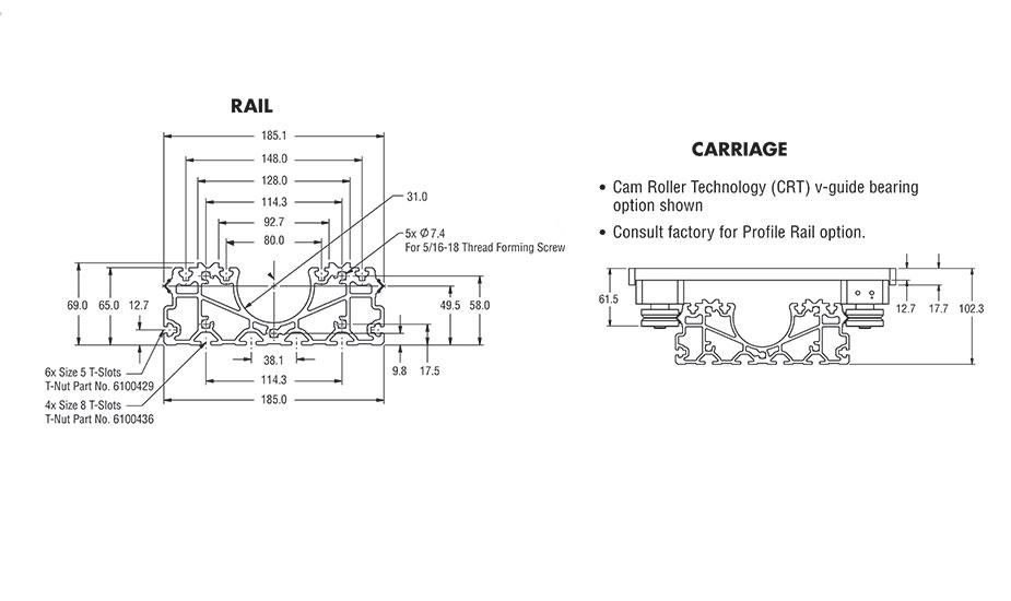 IVTABK Integrated Linear Guide Rail