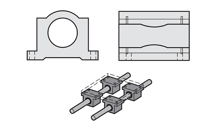 Closed Ball Bearing Pillow Block (Inch)