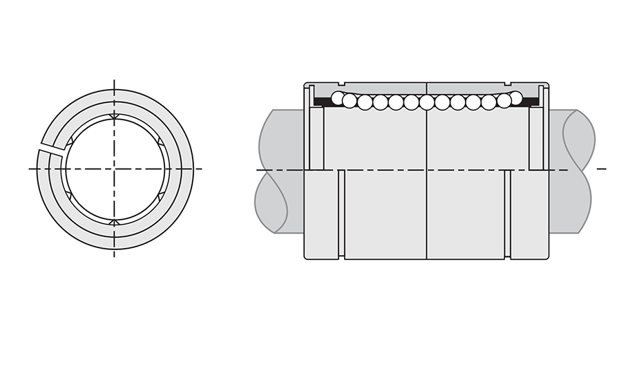 Linear Ball Bearing - EP-AJ Adjustable Diagram