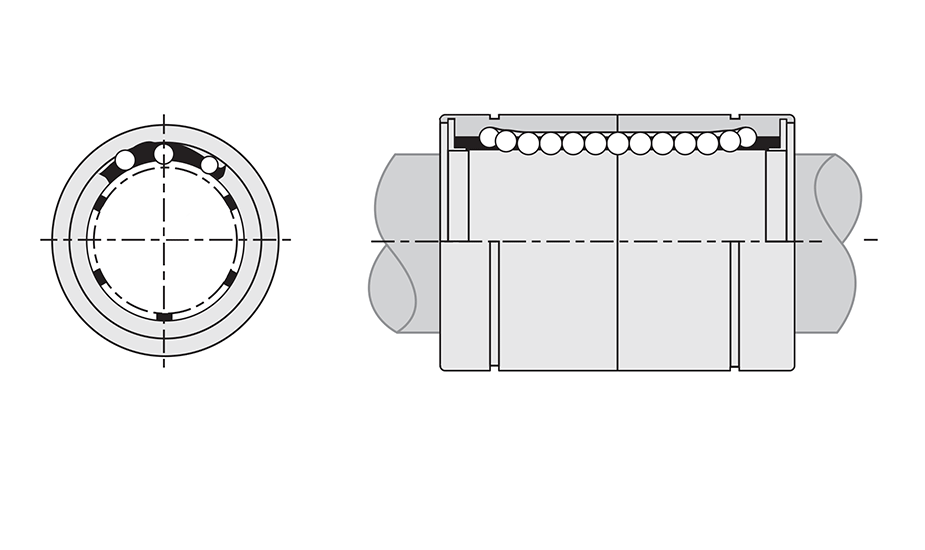 Linear Ball Bearing - EP Standard Closed