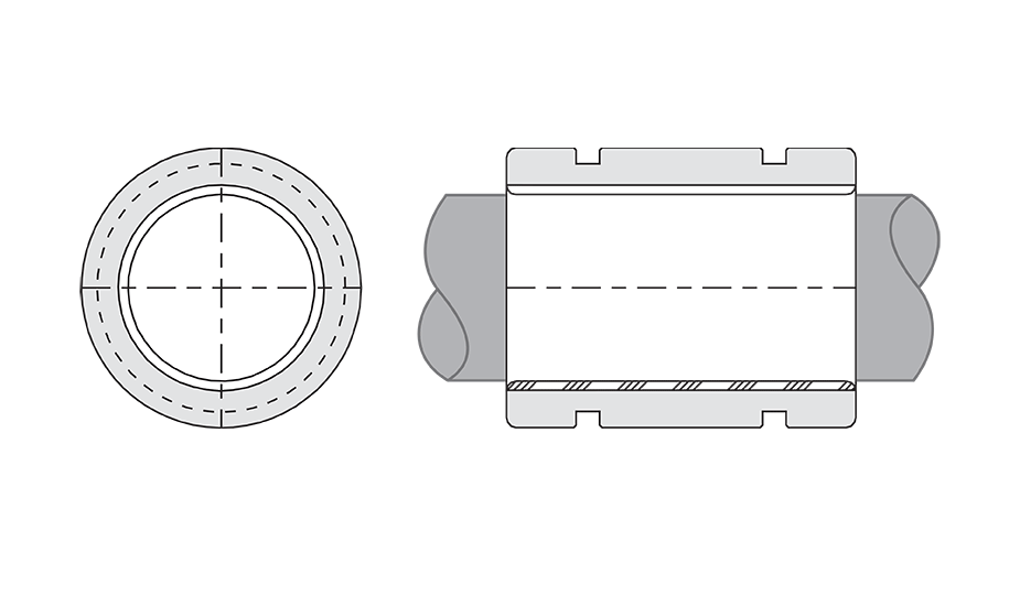 Simplicity Plain Linear Bearing Diagram (FMT) Closed Thin Wall Metric