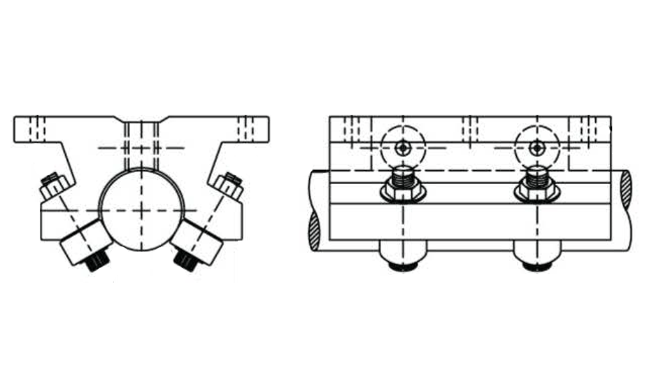 Twin Roller Pillow Block (Inch)  – TWN Diagrams