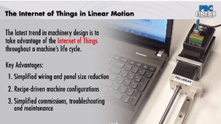 Internet of things in linear motion