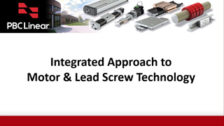 Integrated Motor Lead Screw Webinar